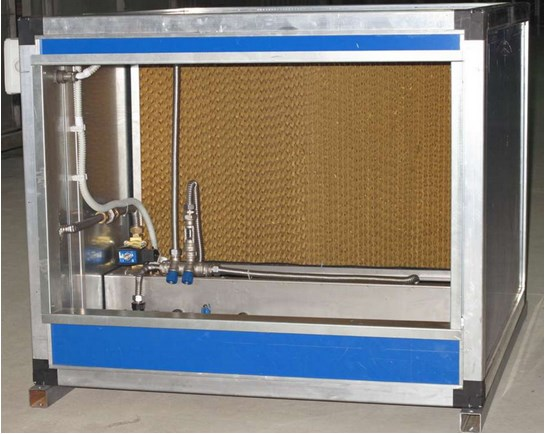 Evaporative duct humidifiers