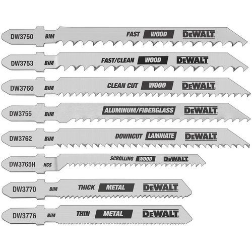 Types de fichiers sur la largeur de la lame