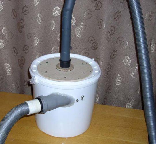 Hjemmelaget støvseparator