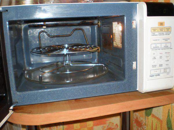 Grill micro-ondes en céramique