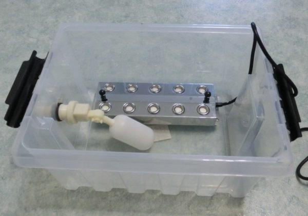 कंटेनर से Humidifier