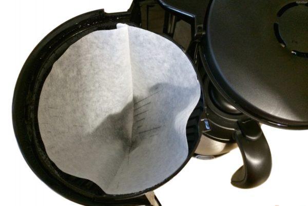 Damla kahve makinesinde filtreler