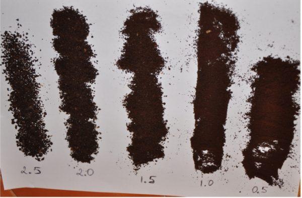 Parçacık büyüklüğüne göre öğütme kahve çeşitleri