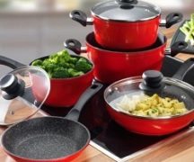 Cookware on the electric stove