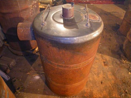 Pemanas air silinder gas