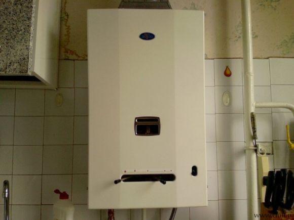Colonne de gaz dans la cuisine