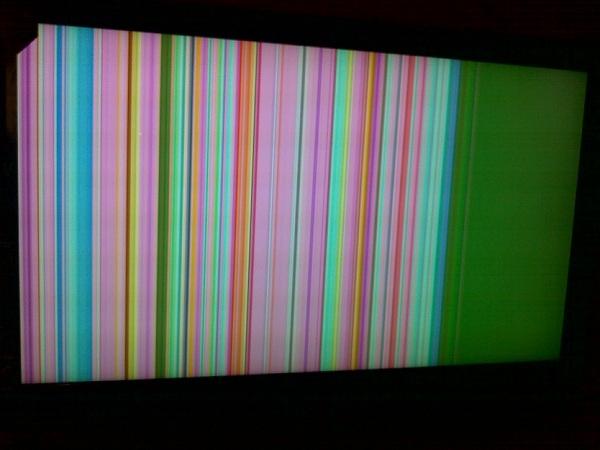 Strisce sullo schermo
