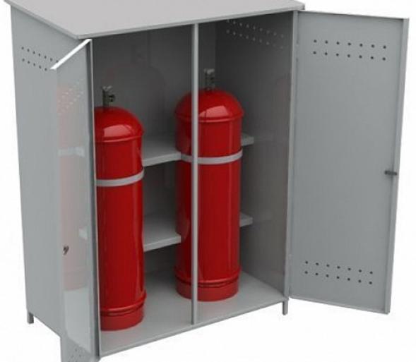 Metallkasse for sylindere