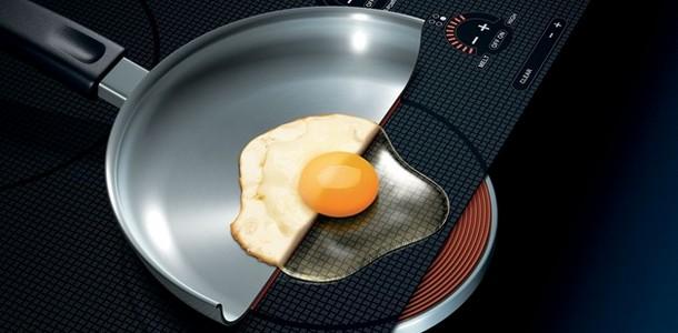 Egg på induksjonskoker