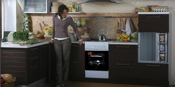 Gassovn på kjøkkenet