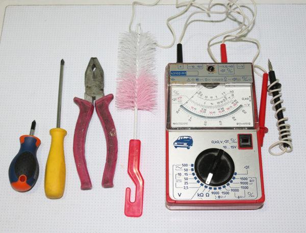 Vaskemaskin reparasjonsverktøy