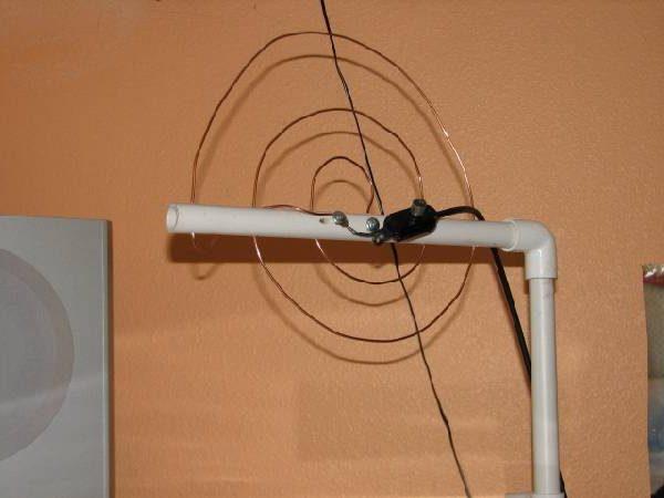 Antenne en cuivre faite maison