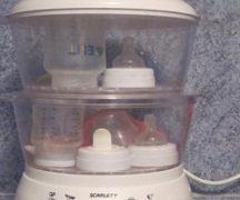 Стерилизация на бебешки бутилки в двоен котел