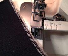 Platte naad op overlock