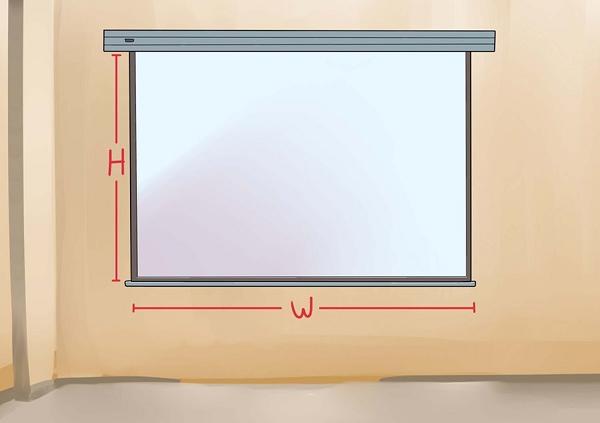Projektor skærm