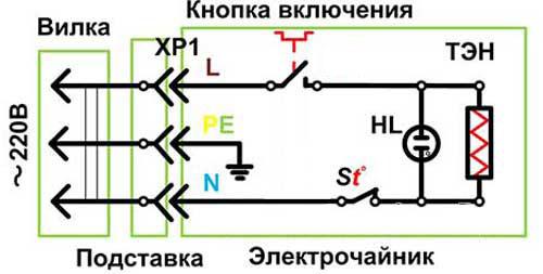 Circuit de bouilloire électrique