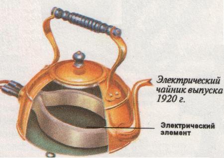 Le prototype d'une bouilloire électrique moderne