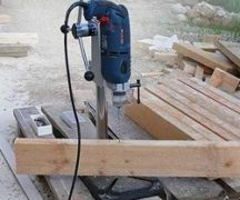 Homemade drilling machine