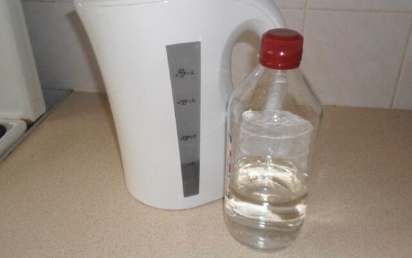 Su ısıtıcısı ve sirke