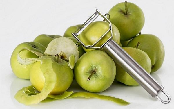 Pommes et peau