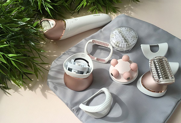 Epilator med massage dyse