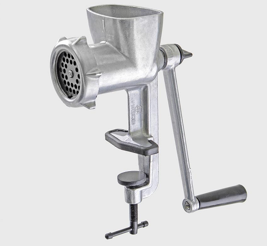 Mechanical meat grinder
