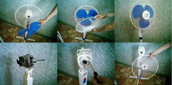 Démontage du ventilateur