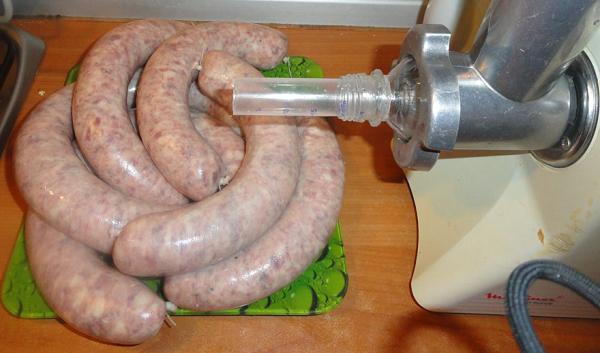 Meat grinder for making sausages