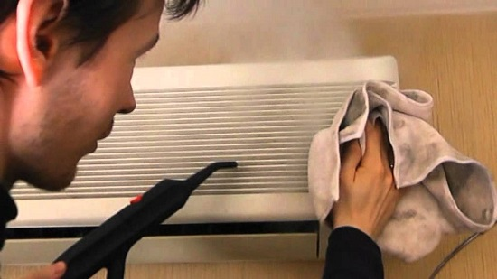 تنظيف مولد البخار للوحدة الداخلية