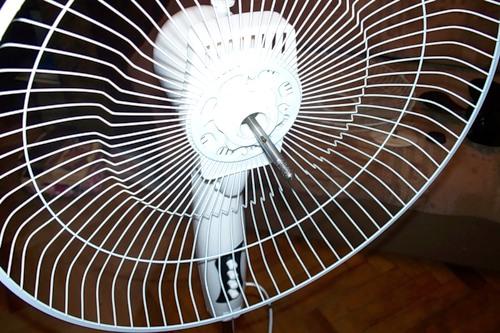 Upper part of the fan