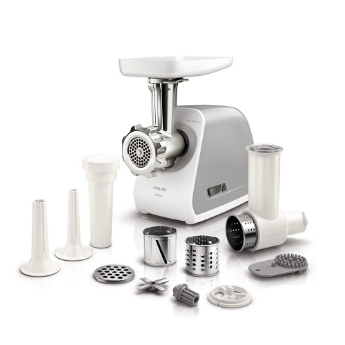 Meat grinder with nozzles