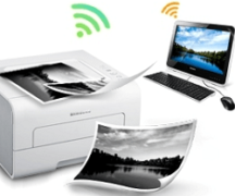 Anschließen eines Druckers an einen Laptop