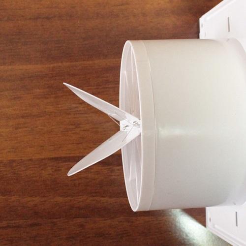 Ventilateur avec clapet anti-retour