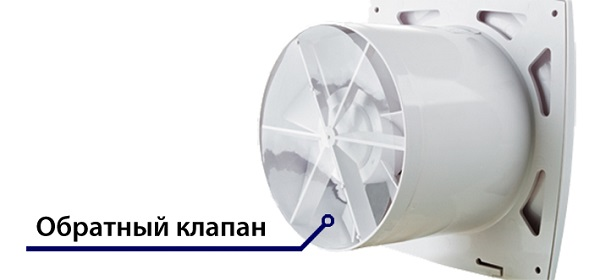 Fan with check valve