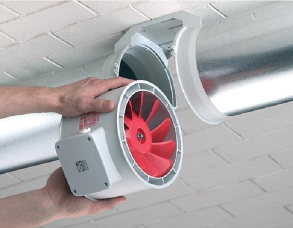 Installation of duct fan