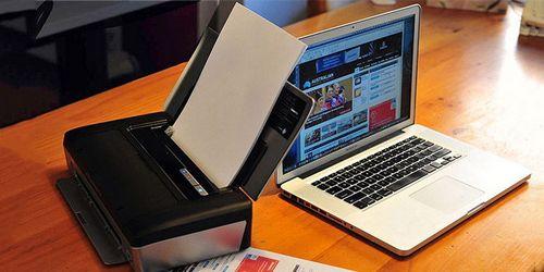 Printer og bærbar computer