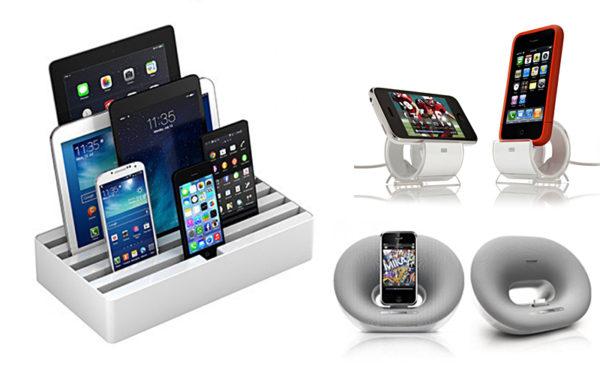 Dockningsstation för laddning av mobila enheter