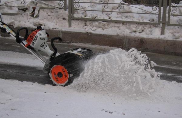 Kar temizleme için meme ile düzeltici