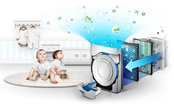 Çocuk odasında temizlik sistemi
