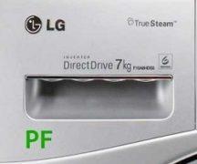 Kesalahan Pf pada mesin basuh LG