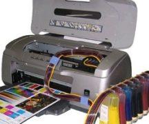 카트리지가있는 잉크젯 프린터