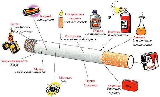 Sigarettrøyk ingredienser