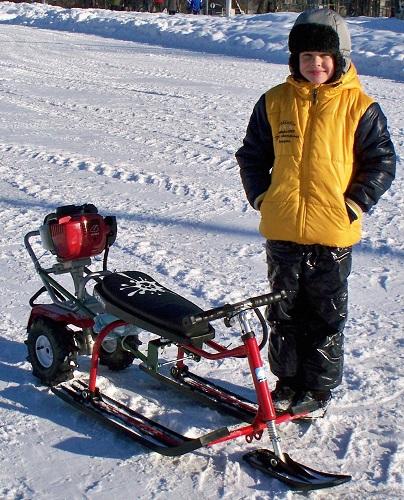 Çocuklar için kar aracı