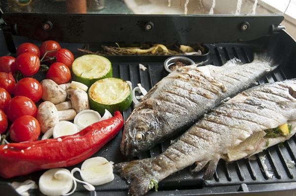 Légumes grillés et poisson