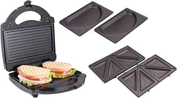 Çıkarılabilir panelli waffle demir