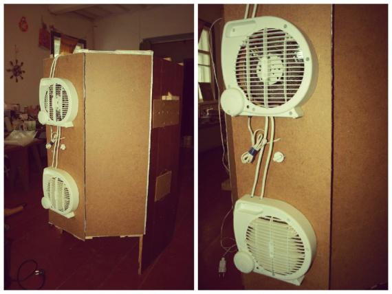 Fan ısıtıcısının montajı