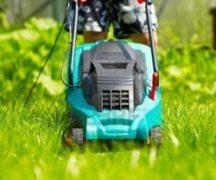 Bedienung des Rasenmähers