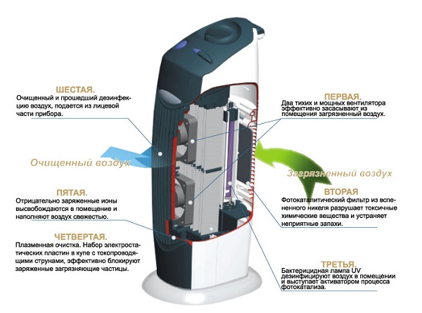 The principle of operation of the air ionizer