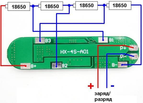 Connexion BMS aux batteries
