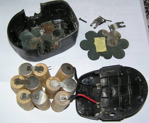 Batterie démontée